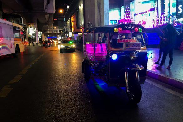 bangkok ulice noca