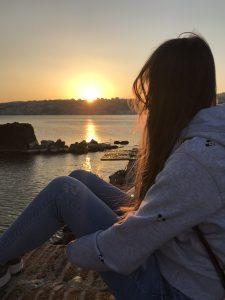 zachód słońca w Neapolu