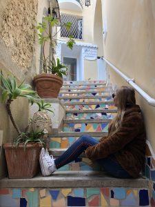 Włochy kolorowe schodki
