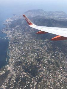 Widok z samolotu na Neapol