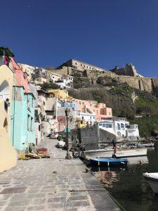 port rybacki kolorowe domki