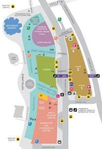 singapur mapa hotelu