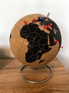 korkowy globus podróżniczy