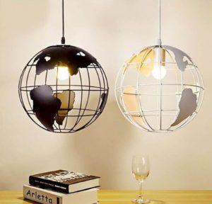 lampy wiszące globusy