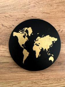 podkładki pod kubki w mapę świata