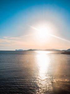 zachód słońca w alghero